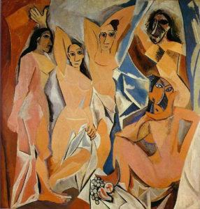 cubismo : Las Señoritas de Aviñón de Pablo Picasso