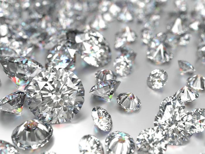soñar con diamantes de colores