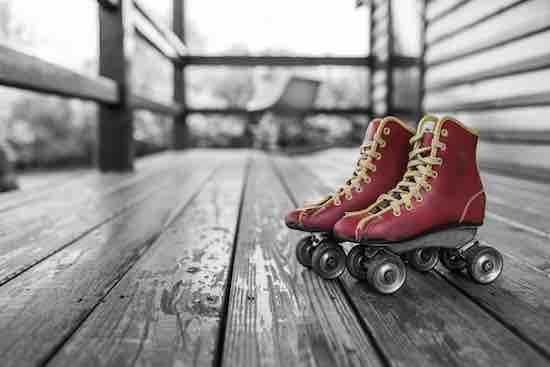 soñar con patinar sin patines