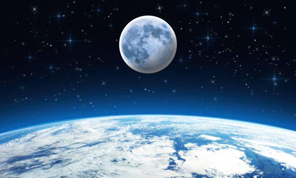 soñar con la luna blanca grande