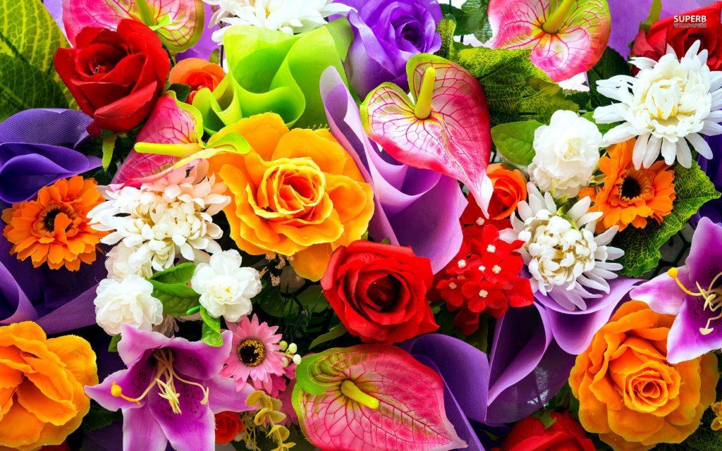 soñar con flores grandes y coloridas
