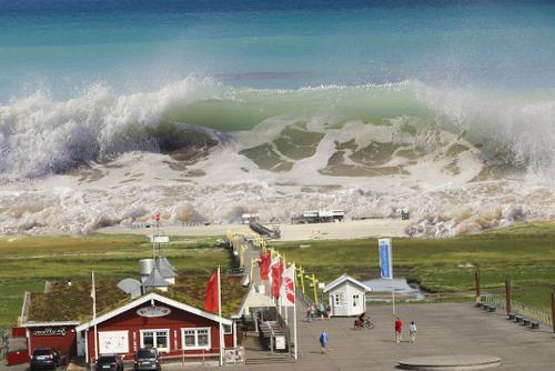 soñar con tsunami de agua limpia