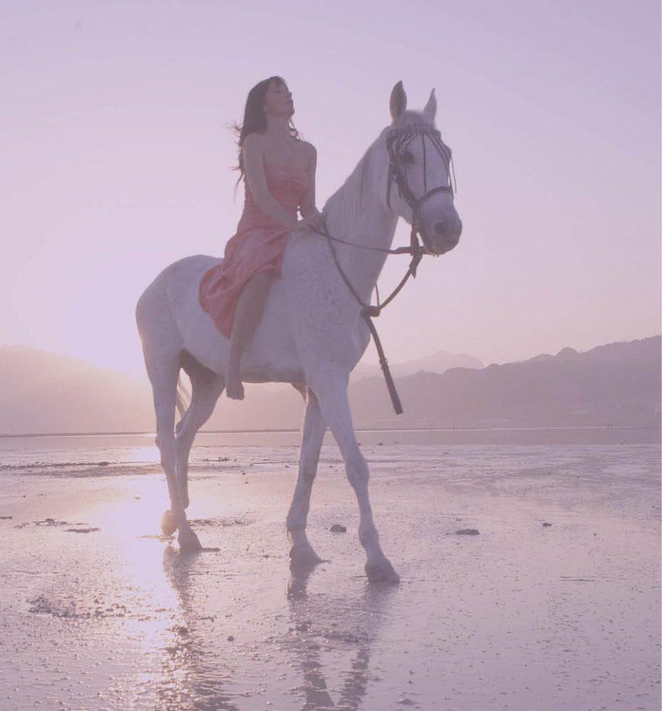 soñar con caballos en la playa